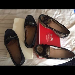 Auth Coach Shoes Black & Brown Flats Bundle w/ box
